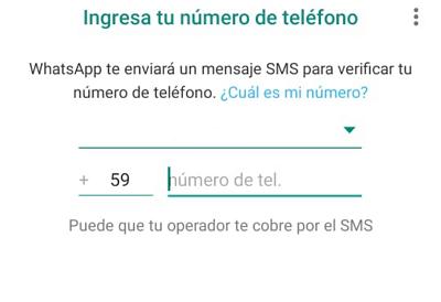 Cómo activar y usar WhatsApp con un teléfono fijo paso 3