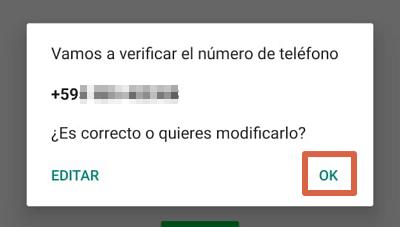 Cómo activar y usar WhatsApp con un teléfono fijo paso 4