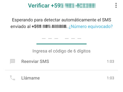 Cómo activar y usar WhatsApp con un teléfono fijo paso 6