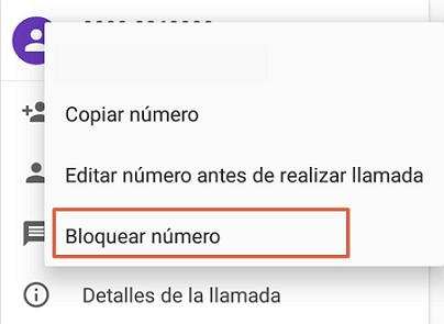 Cómo bloquear el número 911445800 agregándolo a la lista negra de Android.