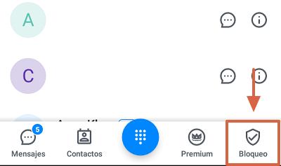Cómo bloquear el número 911445800 con la aplicación TrueCaller paso 7