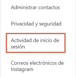 Cómo cerrar sesión individualmente en Instagram desde el navegador paso 3