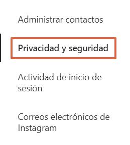 Cómo configurar la autenticación en dos pasos en Instagram desde el navegador paso 2