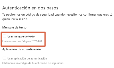 Cómo configurar la autenticación en dos pasos en Instagram desde el navegador paso 4