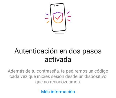 Cómo configurar la autenticación en dos pasos en Instagram desde el teléfono paso 11