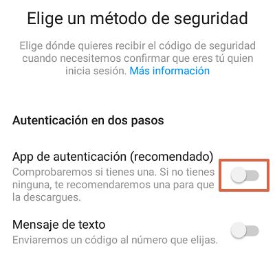 Cómo configurar la autenticación en dos pasos en Instagram desde el teléfono paso 6