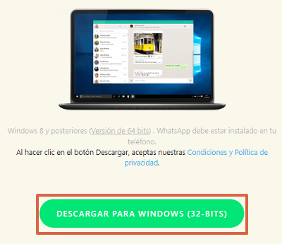 Cómo descargar e instalar WhatsApp para PC desde el navegador paso 2