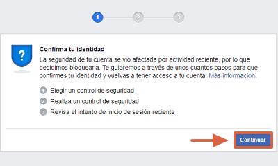Cómo recuperar cuenta de Facebook con un documento de identidad paso 1