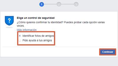 Cómo recuperar cuenta de Facebook con un documento de identidad paso 2