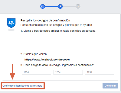 Cómo recuperar cuenta de Facebook con un documento de identidad paso 3
