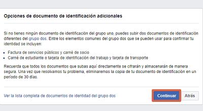 Cómo recuperar cuenta de Facebook con un documento de identidad paso 6
