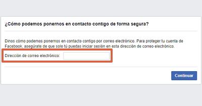 Cómo recuperar cuenta de Facebook con un documento de identidad paso 8