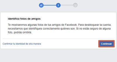 Cómo recuperar cuenta de Facebook identificando fotos de tus amigos paso 3
