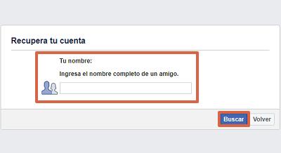 Cómo recuperar cuenta de Facebook sin correo y sin número con amigos de confianza paso 5