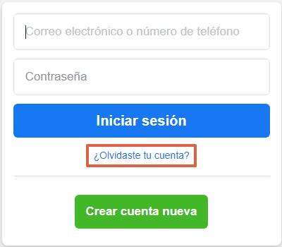 Cómo recuperar cuenta de Facebook sin el correo electrónico paso 1