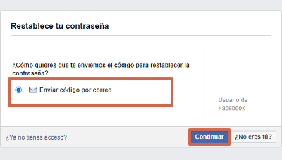 Cómo recuperar cuenta de Facebook sin la contraseña paso 2