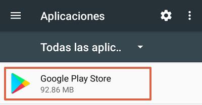 Cómo solucionar el mensaje de error com.google.process.gapps eliminando datos de la tienda de Google Play paso 1