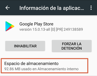 Cómo solucionar el mensaje de error com.google.process.gapps eliminando datos de la tienda de Google Play paso 2