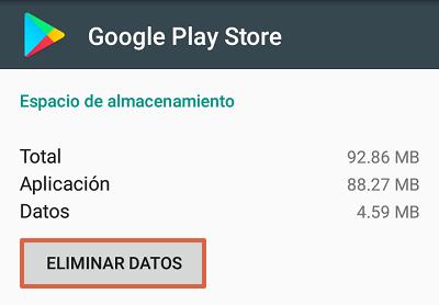 Cómo solucionar el mensaje de error com.google.process.gapps eliminando datos de la tienda de Google Play paso 3