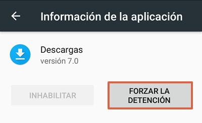 Cómo solucionar el mensaje de error com.google.process.gapps forzando la detención de descargas paso 6