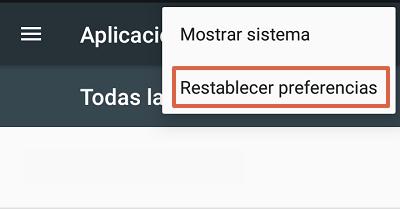 Cómo solucionar el mensaje de error com.google.process.gapps restableciendo preferencias de las aplicaciones paso 2