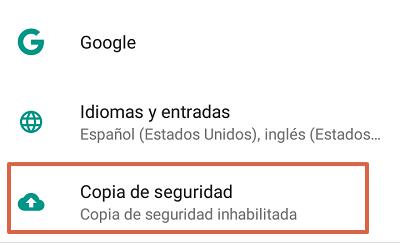 Cómo solucionar el mensaje de error com.google.process.gapps restableciendo valores de fábrica paso 1