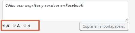 Cómo usar negritas y cursivas en publicaciones de Facebook desde la PC paso 2.1
