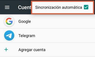 Desactivar la sincronización de cuentas para solucionar el error android.process.acore se ha detenido paso 4