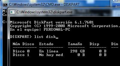 Eliminar protección contra escritura de memoria micro SD con Diskpart en Windows paso 5