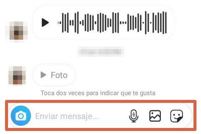 Enviar un DM Instagram App paso 3