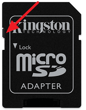 Quitar protección contra escritura de la Micro SD de forma física