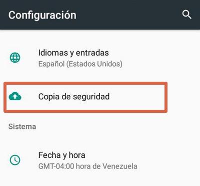 Reiniciar el dispositivo a modo de fábrica para solucionar el error android.process.acore se ha detenido paso 2