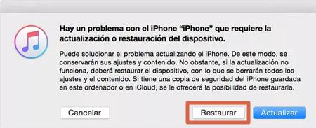 Restablecer Iphone desde iTunes paso 4