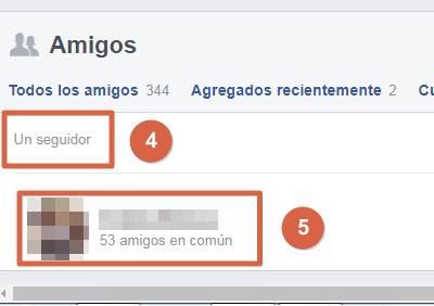 Saber quién te sigue en Facebook paso 4 y 5