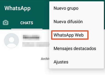 Usar WhatsApp web sin celular paso 3