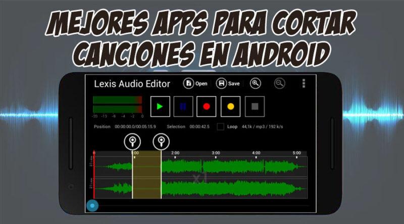 mejores apps para cortar canciones en android