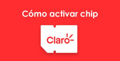 Cómo activar chip de Claro
