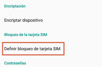 How to change the SIM card PIN of your Android phone step 2