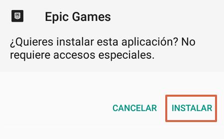 Cómo descargar Fortnite en tu Android desde la aplicación de Epic Game paso 7