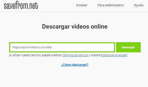 Cómo descargar videos de YouTube a Android desde sitios web con Savefrom