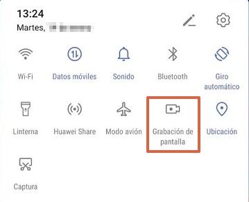 Cómo grabar la pantalla de tu teléfono Honor o Huawei sin descargar aplicaciones paso 4