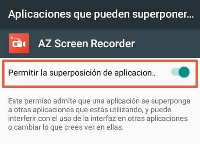 Como grabar pantalla con AZ Screen Recorder paso 2