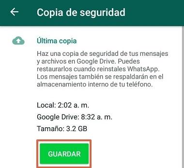 Cómo hacer copias de seguridad de WhatsApp en Android paso 6