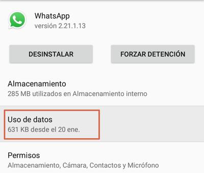 Como saber si WhatsApp esta caido verificando los datos en segundo plano paso 3