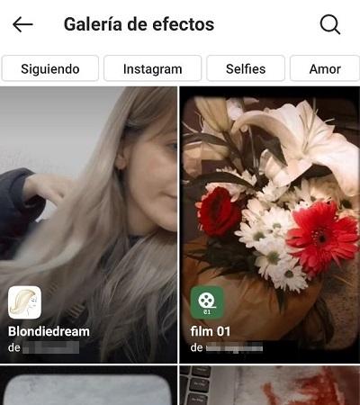Cómo usar efectos de Instagram Paso 4