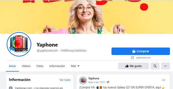 Redes sociales Yaphone.Facebook