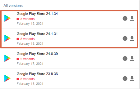 How to update Google Play Store by downloading an APK file step 5