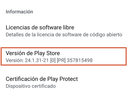 How to update the Google Play Store in the store settings step 4