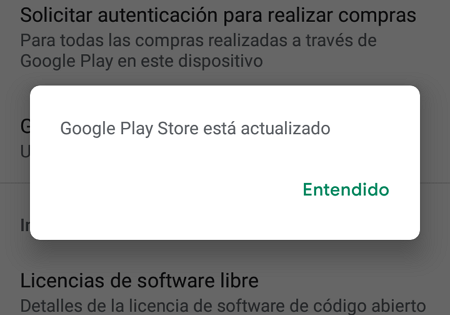 How to update the Google Play Store in the store settings step 5