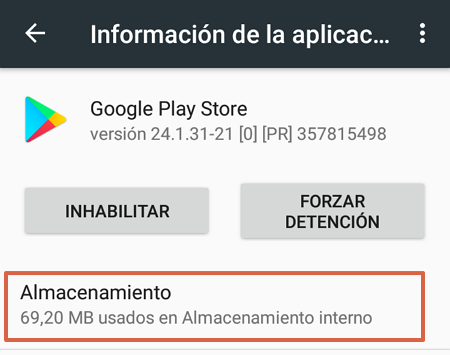 How to clear data or cache to update Google Play Store step 4